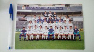 REAL MADRID 90-91 POSTAL