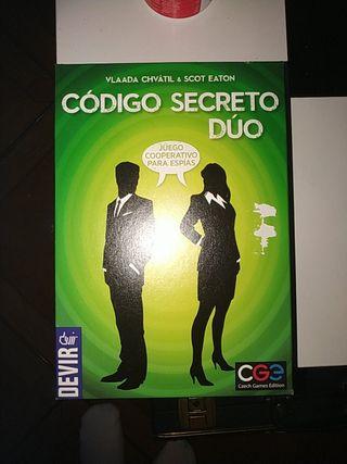 codigo secreto duo juego de mesa