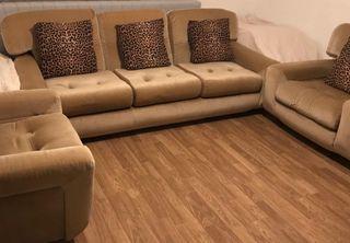 Sofa 3 plazas y 2 sillones