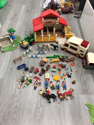 Granja caballos COMPLETA playmobil