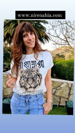 camiseta tigre blanca