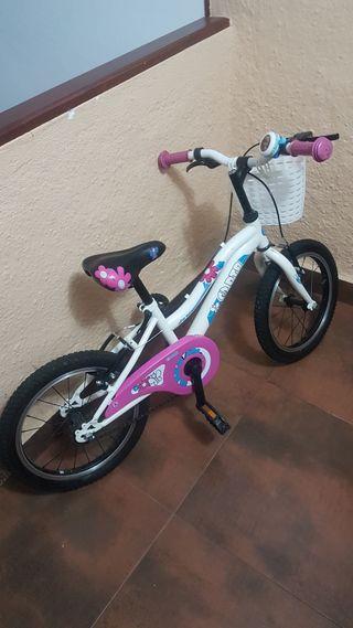 bicicleta Rosa DTB niña 4-5 años