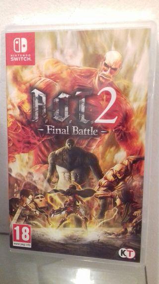 AOT2 Final Battle Nintendo switch