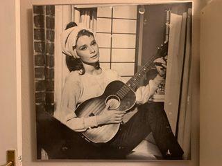 Cuadro marco aluminio Audrey Hepburn