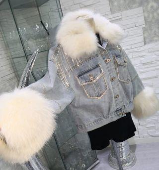chaqueta de piel vaquera