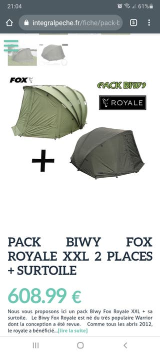 Biwy tienda Fox Royale XXl
