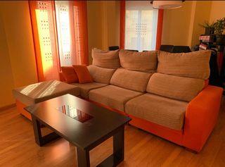 Sofá chaise longue 4 plazas
