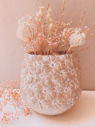 Precioso Jarrón Floral