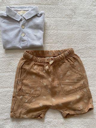 Conjunto pantalón y polo zara 9 12 meses