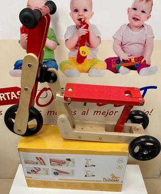 Patinete scooter madera PINOLINO