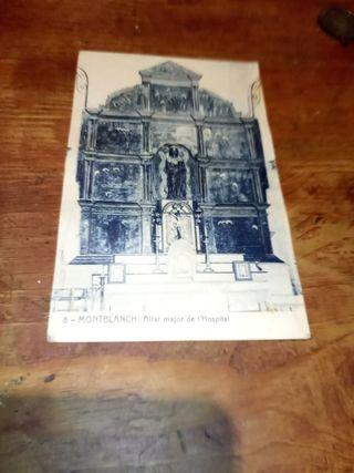 antigua tarjeta postal de Montblanc