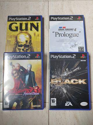 Lote 4 juegos Playstation 2 Ps2