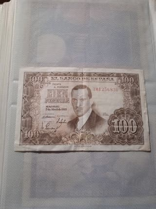 Billete 100 pesetas abril 1953