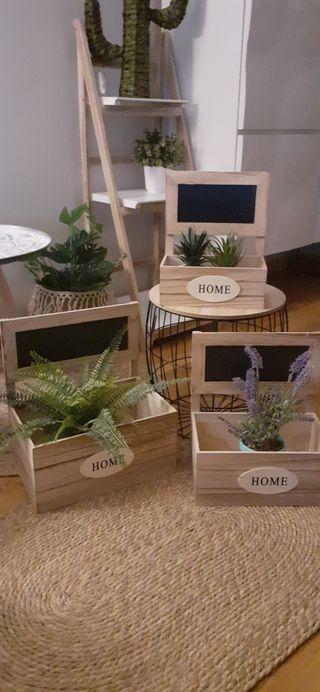 Conjunto de 3 cajas Madera HOME NUEVAS