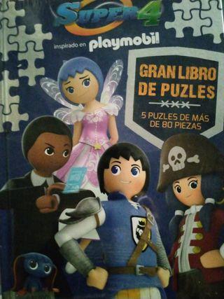 libro Playmobil con 5 puzzles diferentes