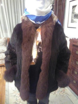 chaqueton de tiras de piel de visón