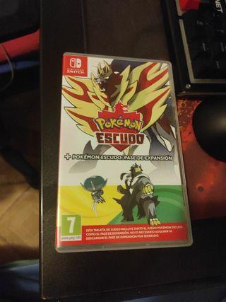 Pack pokemon escudo + pase de expansión