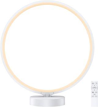 lámpara de noche regulable con anillo de luz LED