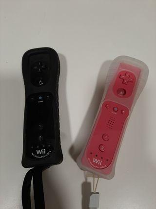Mando Wii Negro y Rosa