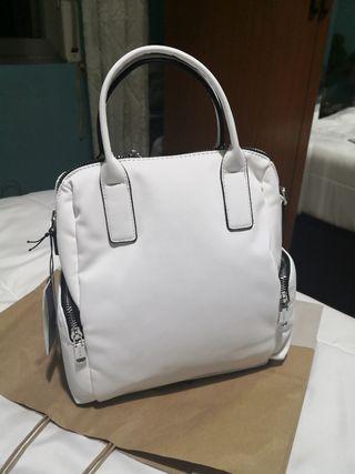 Bolso/mochila nylon blanco