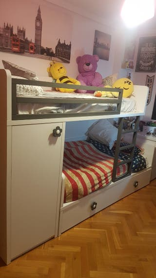 Mueble Tren Litera Diseño Juvenil + mesa estudio