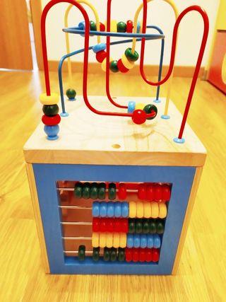 Cubo de actividades 5 en 1, juguete madera