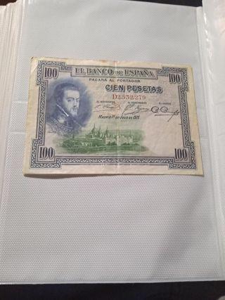 Billete 100 pesetas Julio 1925