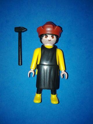 numero 860 playmobil herrero herreria martillo