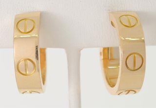 Pendientes de oro de 18 kt Cartier Love