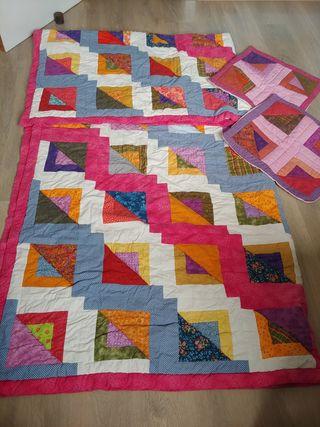 Colcha cama 150 de patchwork
