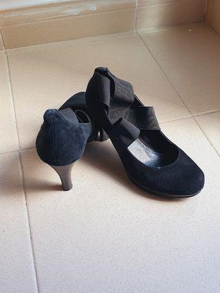zapatos fiesta de ante