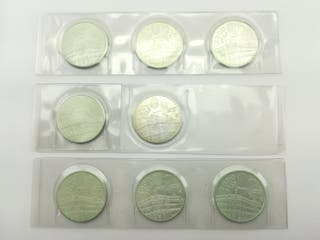 8 Monedas Plata 2000 Pesetas Juan Carlos I 1994 Si