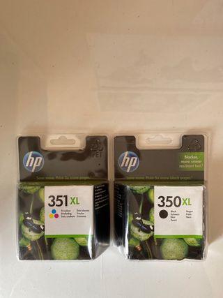 Cartuchos originales XL de HP 350 y 351