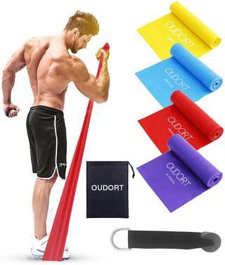 Bandas elásticas lisas fitness musculación