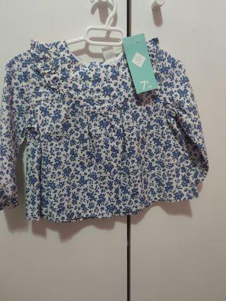 camisa bebé niña con etiqueta