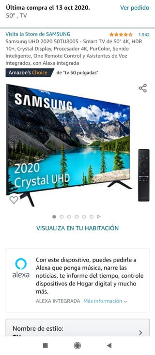 TV SAMSUNG 50 Pulgadas 4K 5 meses de uso