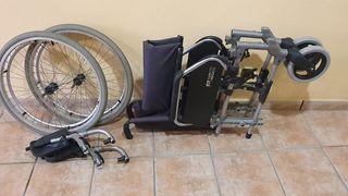 Silla de ruedas y andador