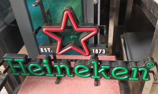 Letrero LED de bar vintage Heineken