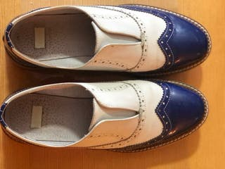 Zapato mocasin bicolor
