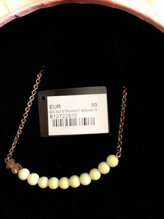 Collar TOUS de plata y gemas verde claro