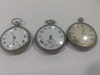 Relojes de bolsillo de plata