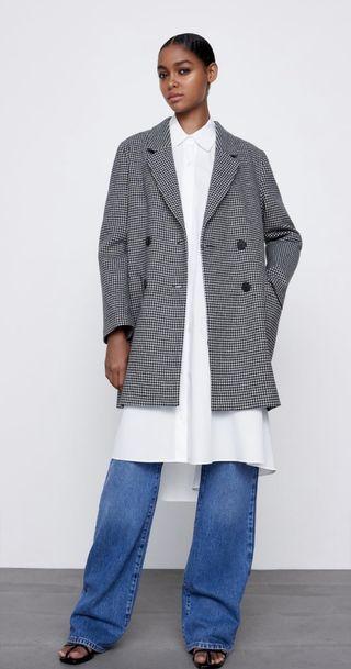 Abrigo cuadro Vichy Zara