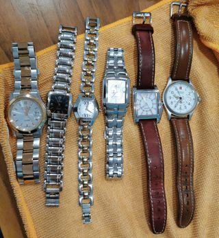 6 Relojes de distintas marcas