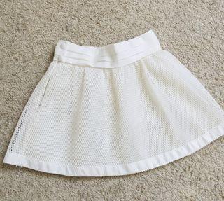 Falda blanca corta S/M fiesta