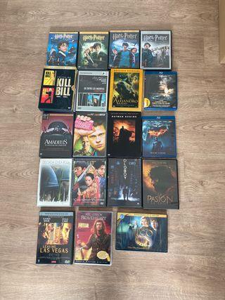 Lote 20 películas DVD y Bluray