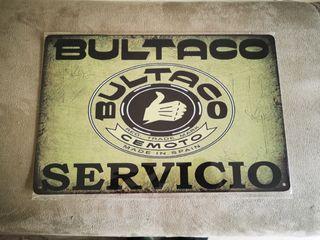 Cartel metálico decoración Bultaco