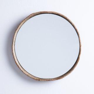 Espejo de Pared Redondo Madera Ø40 cm