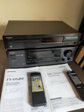 Amplificador y CD reproductor ONKYO