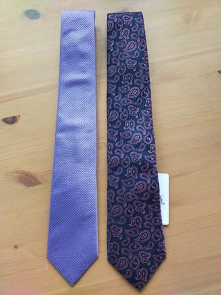 Lote de dos corbatas