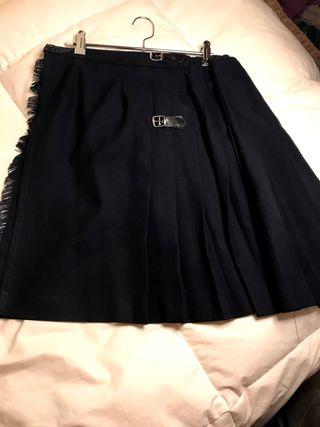 Falda azul de uniforme del Corte Inglés